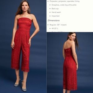 Anthropologie Stowe Lace Jumpsuit, M, NWT
